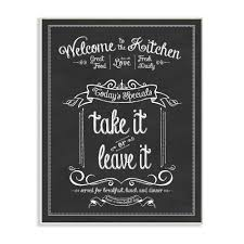 welcome to the kitchen chalkboard vintage sign wall plaque art by