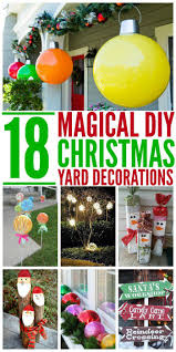 Unique Outdoor Christmas Decorations by Best 25 Christmas Yard Decorations Ideas On Pinterest Outdoor