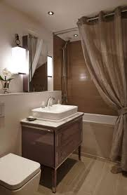 simple modern recessed lighting and glossy colored vanity for
