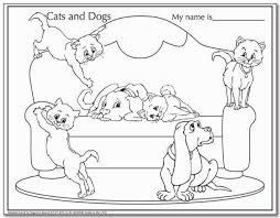 cats u0026 dogs coloring sheets