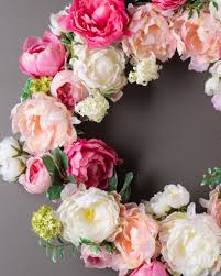 peony flower wreath garland u0026 swag balsam hill