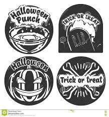 vintage halloween emblems stock vector image 76399890