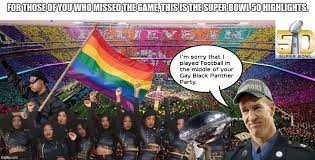 Gay Pride Meme - super bowl 50 in a nutshell imgflip