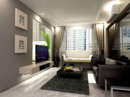 Decorating Living Room Black Leather Sofa Cozy Living Room Interior With White Painted Wall Color And Square