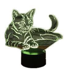 usb cat night light cat toys for kids lying down cosy cat 3d led l acrylic night