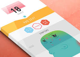 app design inspiration mobile app design inspiration period tracker designbeep