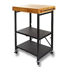 casters for kitchen island origami folding kitchen island cart with casters 7536224 hsn