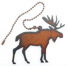 lodge decor rustic home decor metal moose ceiling fan pull chain