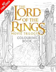 new merch lord of the rings movie colouring book hobbit movie