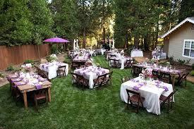 Wedding Ideas For Backyard Cheap Backyard Ideas Backyard Wedding Decorations Of