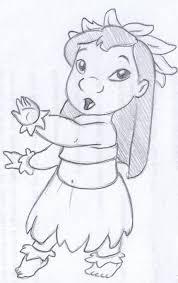 disney sketch lilo dancing hula art by anna helena pinterest