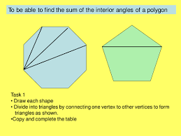 The Sum Of Interior Angles Sum Of Interior Angles Of Polygons By Jane Ch Teaching