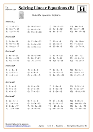 free printable math worksheets variables expressions grade algebra with cazoom maths solving equations algebra and