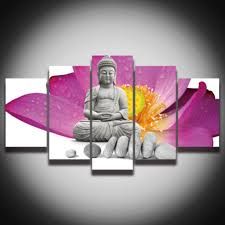 chinese decorations for home aliexpress com buy 5 piece canvas art buddha poster canvas