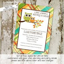 owl baby shower invitation gender neutral katiedid designs