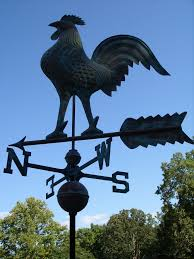 Nautical Weathervane Large Rooster Weathervane Copper Functional Chicken Weather Vane