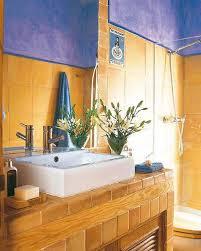 modern bathroom ideas adding sunny yellow accents to bathroom
