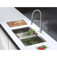 Kitchen Faucet Stainless Steel Ruvati Rvf1225bn Single Handle Pull Down Kitchen Faucet