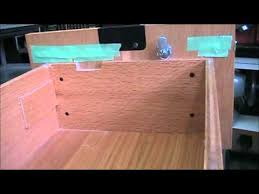 How To Lock Kitchen Cabinets Install Simple Swing Cam Lock In Wood File Cabinet Drawer Youtube