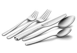 wmf manaos stainless steel flatware set 20 piece cutlery and more