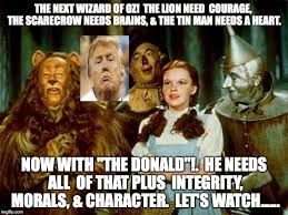 Wizard Memes - trump in oz imgflip