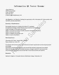 Resume Samples Quality Assurance by Etl Resume Informatica Free Resume Example And Writing Download