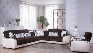 Orlando Modern Furniture by Orlando Sectional Sofa Bed In Dark Brown Color Star Modern Furniture