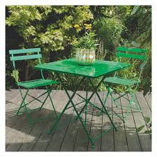 green metal outdoor table parc 4 seat green metal folding garden table and chairs set buy