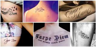 15 best carpe diem tattoo designs with meanings