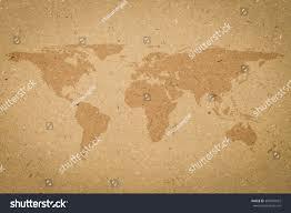 Cork World Map by World Map On Tan Texture Cork Stock Illustration 384087022