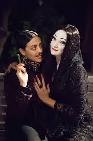 halloween dreams come true robin and carly as morticia and gomez