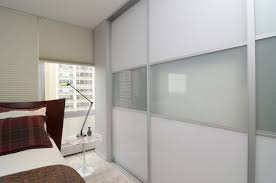 Outside Mount Sliding Closet Doors High Sliding Glass Doors With White Brown Curtains Placed On