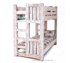 Solid Wood Bunk Bed Barn Wood Bunk Bed Rustic Bunk Bed Lodge - Rustic wood bunk beds