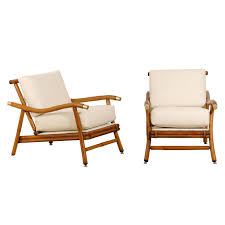 Lounge Chair Dimensions Standard Restored Pair Of Campaign Lounge Chairs By John Wisner For Ficks