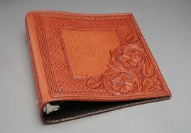 leather scrapbook tooled leather scrapbook cover