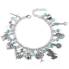 links jewelry bracelet images Mqchun the outlander themed charm bracelet scottish thistle jpg