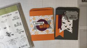 halloween treat bags stampin u0027 up spooky fun card class by