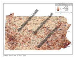 Media Pa Map Stockmapagency Com Population Density Map Of Pennsylvania With