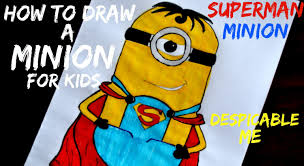 drawing a superman minion for your kids diy crafts tutorials