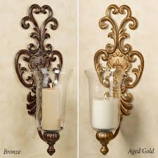 Crystal Candle Sconce Pair Of Swedish Gustavian Style Crystal And Bronze Candle Wall For