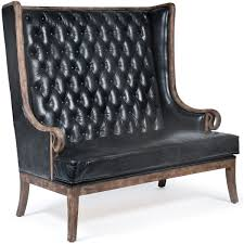 high back leather sofa vince modern classic high back tufted black leather wood settee