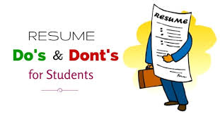 Resume Dos And Donts Important Resume Dos And Don U0027ts Tips For Students Wisestep