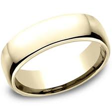 comfort fit wedding bands classic yellow gold 6 5mm european comfort fit wedding band