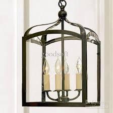 Black Iron Pendant Light Modern Nordic Minimalist Black Iron Birdcage Chandelier Balcony