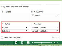 How To Create Pivot Tables In Excel 3 Easy Ways To Create Pivot Tables In Excel With Pictures