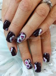 lincoln park after dark polish with one stroke flower nail art