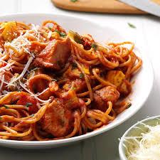 Roast Vegetables Recipe by Italian Spaghetti With Chicken U0026 Roasted Vegetables Recipe Taste