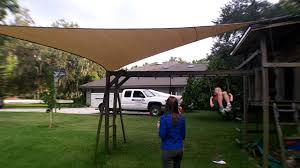 great sun shade install over swing set for kids youtube