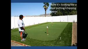 diy backyard putting and chipping green youtube