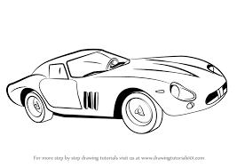 coloring cute draw ferrari jcd car drawing kids